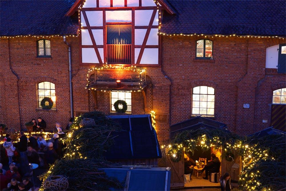 Romantischer Weihnachtsmarkt Gut Wolfgangshof bei Nürnberg